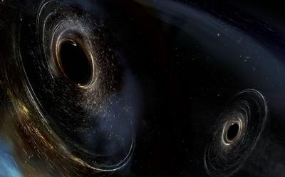 Picture of pair of black holes