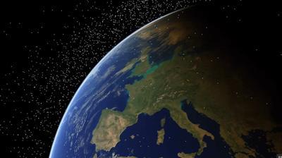 Aerial shot of Europe