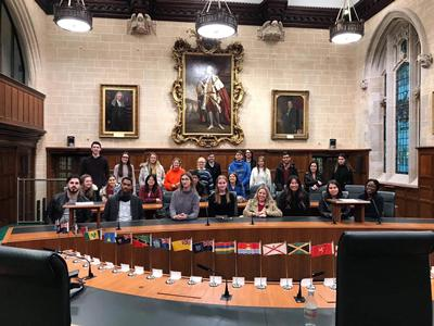 Students visit the Supreme Court