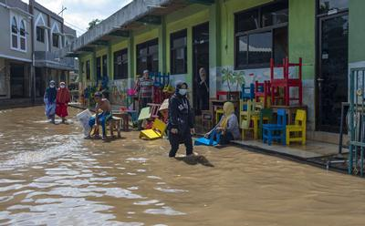 Flooded school in Indonesia. UNICEF
