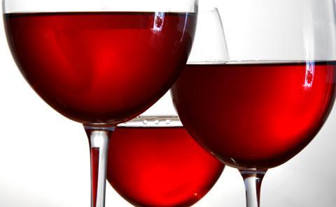 wine in lots of wine glasses
