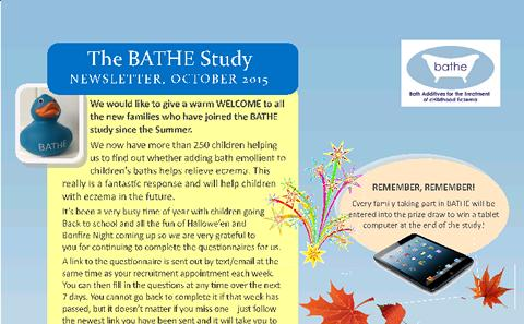 Parents Autumn Newsletter 2015