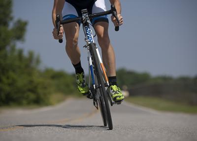 Person riding racing bike