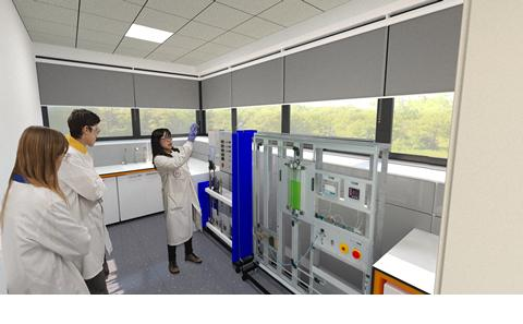 Artist's impression of new labs