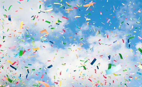 Confetti in the sky