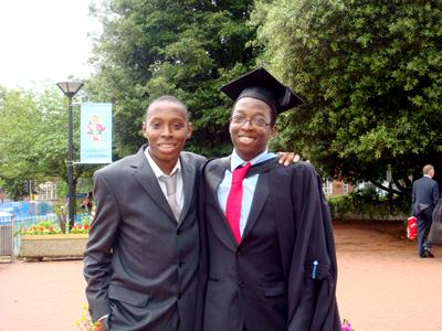 Toby Bakare and his brother Ayo