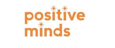 Positive Minds text in orange