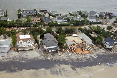 Coastal damage