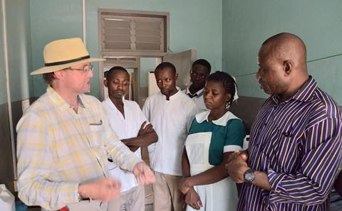 Professor Tim Leighton in Ghana