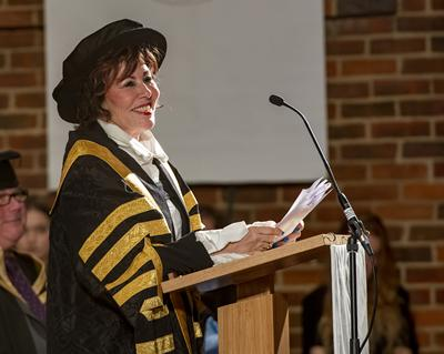 Ruby Wax Chancellor ceremony