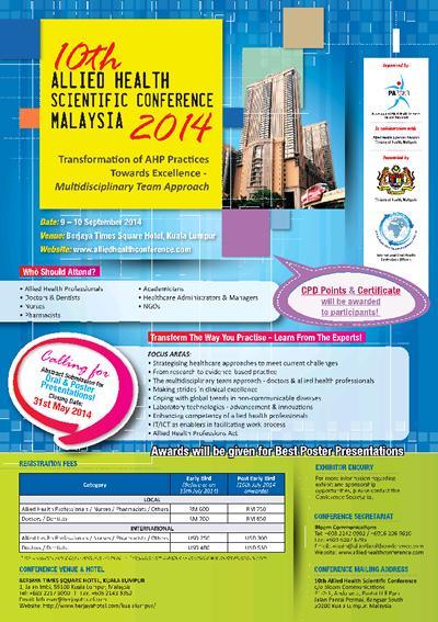 10th AHSC 2014 - Malaysia