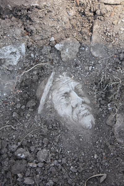 A marble head discovered at Portus