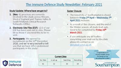 ID Study February 2021 News Letter