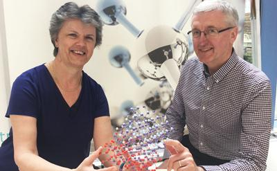 Professor Gill Reid and Ron Swart