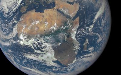 Africa from satellite. Credit: NASA