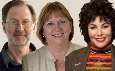 Mike Wald, Wendy Hall and Ruby Wax