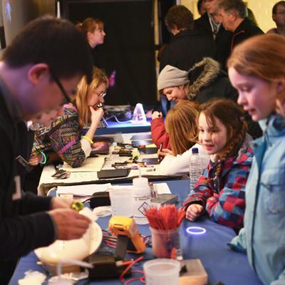 Children in Photon Shop