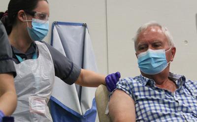 Vaccine trial participant