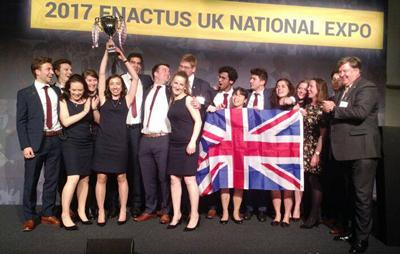 Students celebrate Enactus UK title