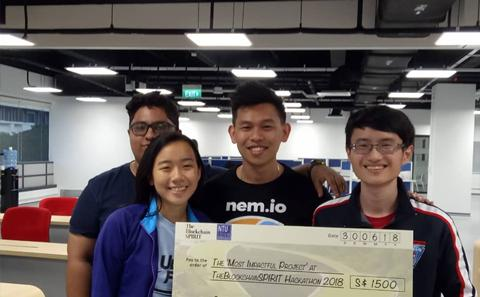UoSM students with their cash prize