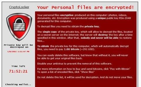 Risk of encryption virus