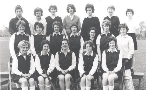 Ladies hockey team, 1961