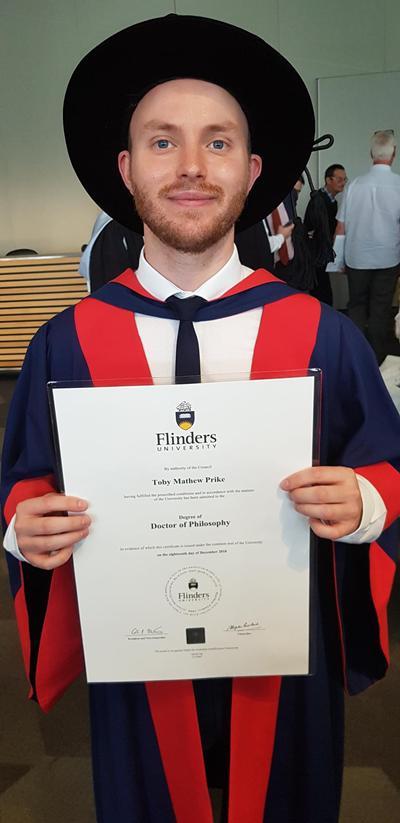 Toby Prike's graduation ceremony