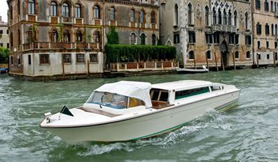 A Venice water taxi