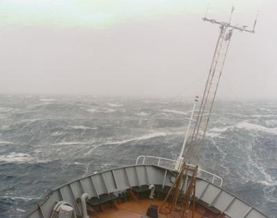 Image of stormy conditions at sea.