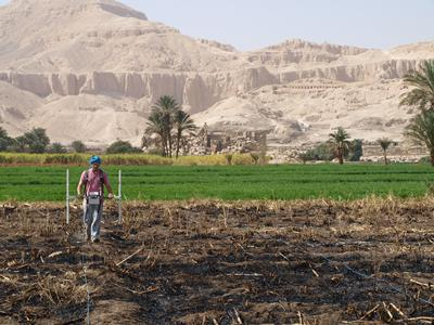 Magnetometer survey in Egypt