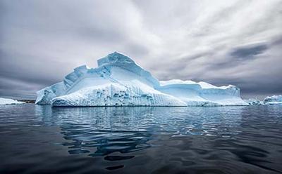 Antarctic ice upheaval