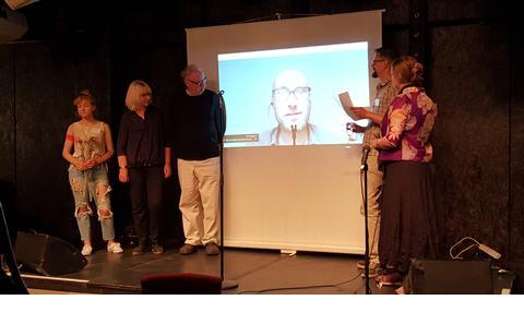 Professor Jussi Parikka on screen