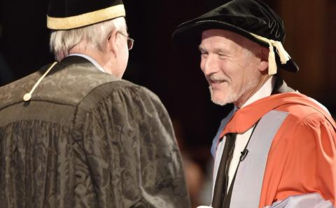 Steve Etches receives his Doctorate