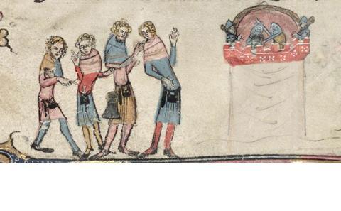 Image: A puppet show; Oxford, Bodle