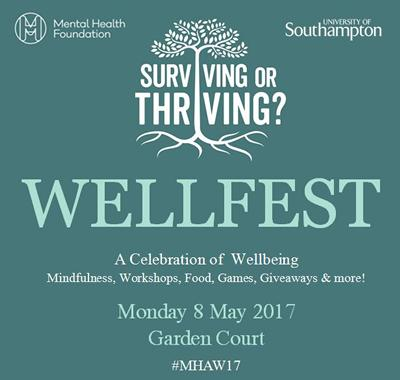 Join us for WellFest on 8 May