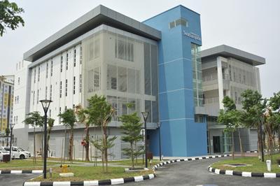 The campus building