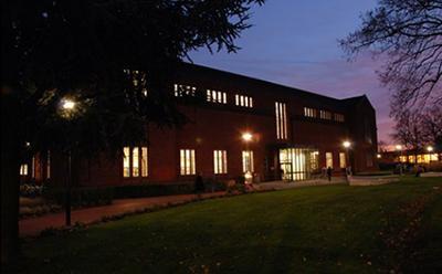 Hartley Library at night