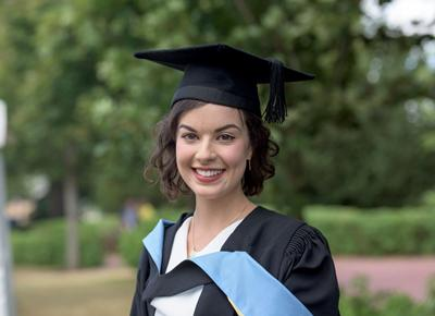 Stephanie graduating in 2015