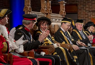 Ruby Wax's Chancellor installation