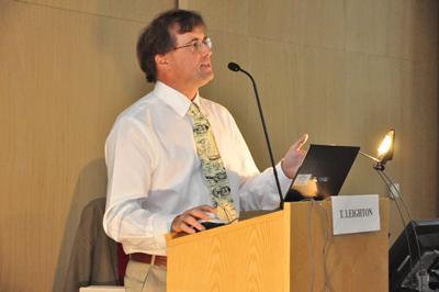 Professor Tim Leighton presenting