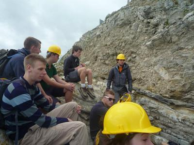 Students on an AAPG Fieldtrip