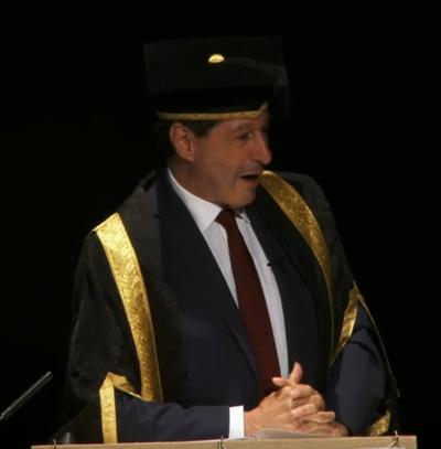 Jon Sopel at Southampton graduation