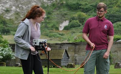 Students conduct geophysics