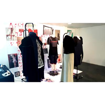 MA Fashion Design display