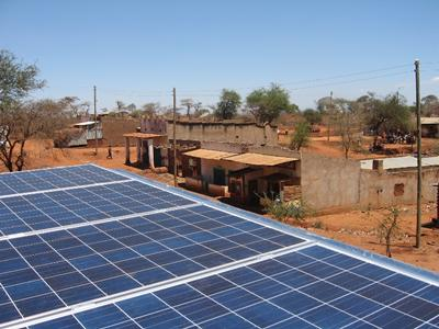 Solar energy panels in Africa