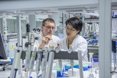 Professor Morgan and Dr Cheong