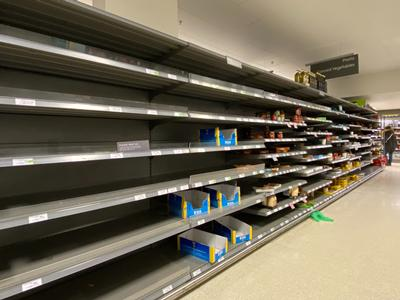 Study Shows Photos of Empty Supermarket Shelves Instigate Panic Buying