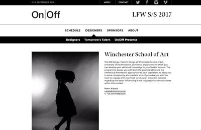 WSA page on On/Off website