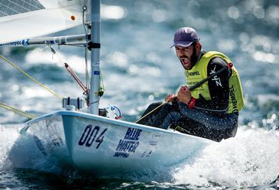 Pavlos Kontides sailing