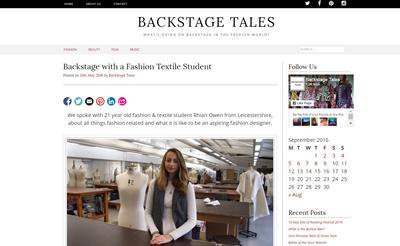 Rhian Owen's Backstage Tales